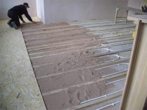 Underfloor Heating Embedded in Screed