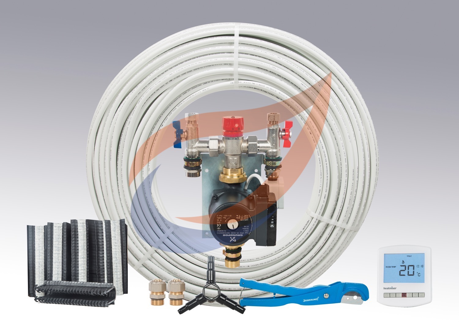 Nordic Pro 2 25 30 Sqm Kit Two Zones Underfloor Heating Wiring Uk 20 One Zone Single Circuit