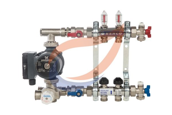 2-circuit manifold with pump & mixer pack