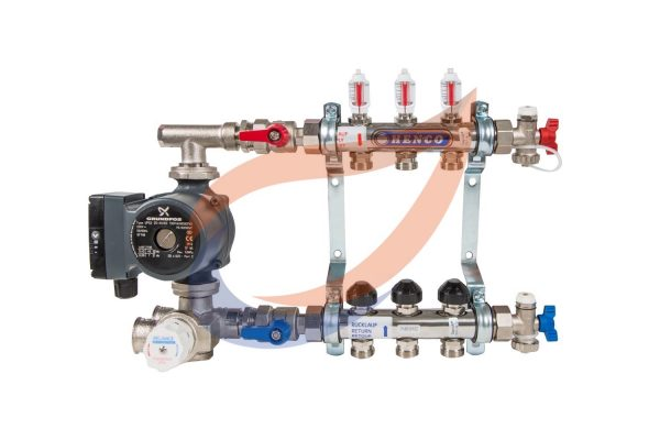 3-circuit manifold with pump & mixer