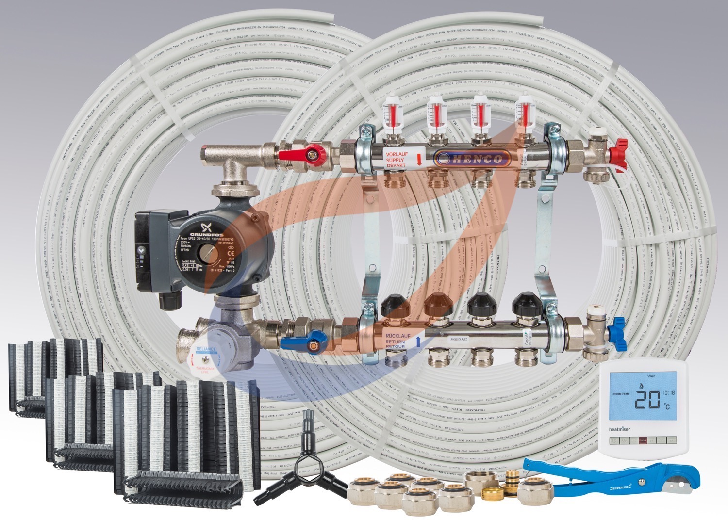 Underfloor Heating System Kit Pack 8