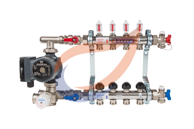 4-circuit manifold with pump & mixer