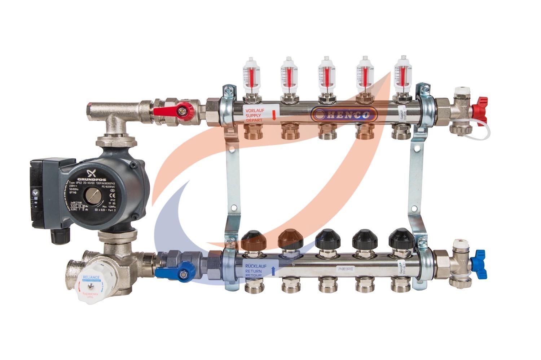 5-circuit manifold with pump & mixer