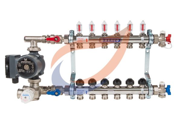 6-circuit manifold with pump & mixer
