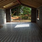 Installation of large one zone underfloor heating system