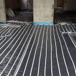 Installation of large multi zone underfloor heating system