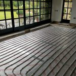 Installation of small one zone underfloor heating system